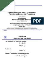 Matrix Exponential