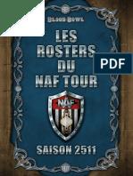 Les Rosters Du NAF Tour - Saison 2511