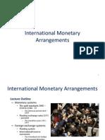 International Monetary Arrangements  for MBA,BBA,B.Com Students