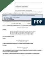Espacios Producto Interno vectorial y aplicaciones