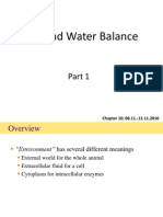 Ion and Water Balance