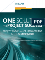 One Solution Project Success Whitepaper
