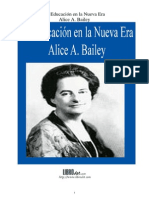 Alice a. Bailey - La Educación en La Nueva Era