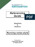 Running Notes