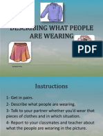 describing what people are wearing