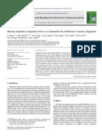 Plasma amyloid-b oligomers level is a biomarker for Alzheimer's disease diagnosis