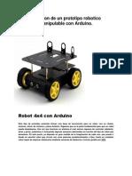 Robot con Arduino Programable con chasis integrado