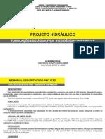 Memorial de cálculo de materiais hidráulicos