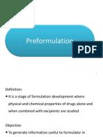 Tablets Preformulation
