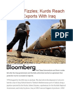 Oil Rally Fizzles; Kurds Reach Deal on Exports With Iraq