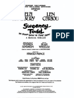 Sweeney Todd Vocal Score