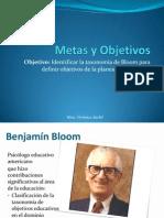 Objetivos y Metas Benjamin Bloom