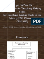 Tsl3107-3-Part2-Techniques for Teaching Writing Skills