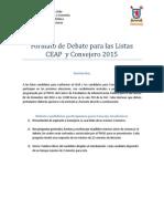 Formato Debate 2015