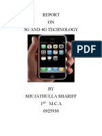 Report on 3g and 4g Technology