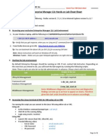 Oracle Enterprise Manager 12c Hands‐on Lab Cheat Sheet