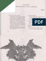 Zonas Específicas del test de Rorschach (Portuondo)