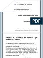 3.3 Modelo CEP Clásico - Investigacion de Operaciones 1