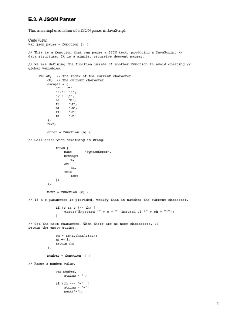 Javascript - The Good Parts | Json | Subroutine