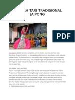 Sejarah Tari Tradisional Jaipong