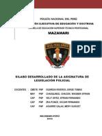 LEGISLACIÓN POLICIAL PNP 2014