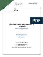 SISTEMAS DE ARCHIVOS EN LINUX
