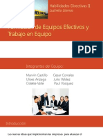 Formación de Equipos Efectivos y Trabajo en Equipo