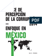 ÍNDICE DE PERCEPCIÓN DE LA CORRUPCIÓN 2014 - MÉXICO