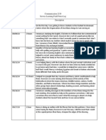 service learning field notes logs