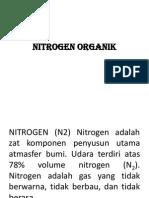 Nitrogen Organik