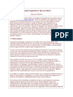 Manual Imperfecto Del Novelista
