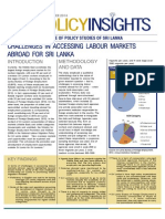 Policy Insights - Challenges in Accessing Labour Markets Abroad for Sri Lanka