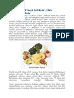 Manfaat Dan Fungsi Kalsium Untuk Kesehatan Tubuh