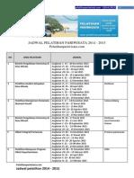 Jadwal Pelatihan Pariwisata 2014 2015