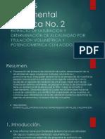 Extracto de Saturación y Determinación de alcalinidad por titulación volumétrica y Potenciometrica Con Acido