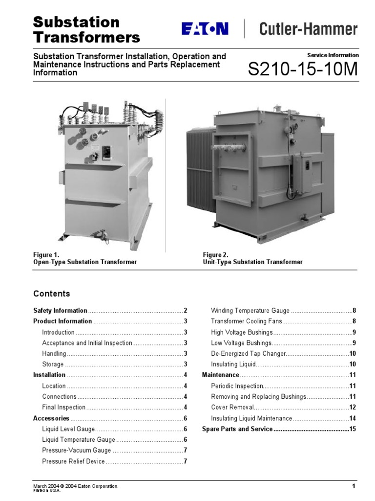 operation and maintenance manual for substation transformer rh scribd com ehv substation maintenance manual ehv substation maintenance manual