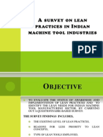 A Survey on Lean Practices in Indian Machine