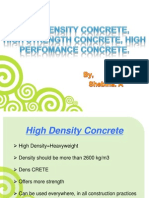 high performance concrete seminar report