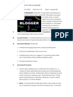 lesson plan blogging in the classroom