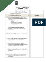 Checklist Audit OHSAS 18001