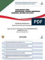 Rancangan Awal RPJMN 2015-2019