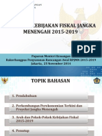 Arah dan Kebijakan Fiskal Jangka Menengah 2015-2019