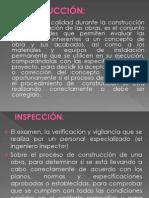 4.1 Inspección de Obra