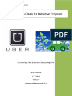 Uber's Clean Air Initiative Proposal