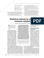 Statistical Methods for Detecting Molecular Adaptation
