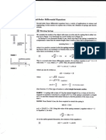 2nd Order Differential Equation Application