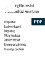 Making Effective and Professional Oral Presentation