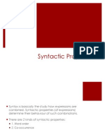 Syntactic Properties