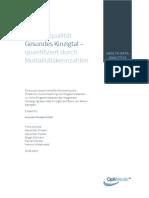 Ergebnisqualität Gesundes Kinzigtal – quantifiziert durch Mortalitätskennzahlen (Studie 2014)