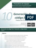 PDL.14.Tema10.GeneracionDeCodigoFinal.traduccionACodigoObjeto